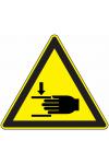 Danger ecrasement des mains