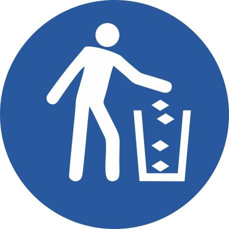 Utiliser la poubelle
