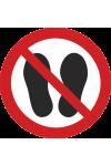Défense d'entrer avec des chaussures