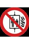 Interdiction d'utiliser l'ascenseur en cas d'incendie