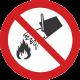 Interdiction d´éteindre avec de l´eau