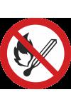 Flammes nues interdites, Feu et source d'allumage non protégée interdits, Interdiction de fumer