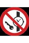 Articles métalliques ou montres interdits
