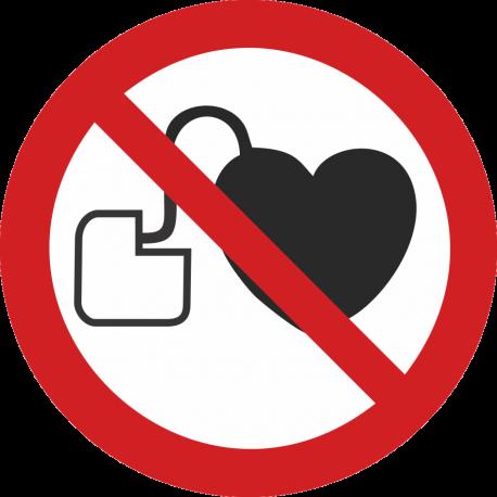 Interdit aux personnes porteuses d'un stimulateur cardiaque