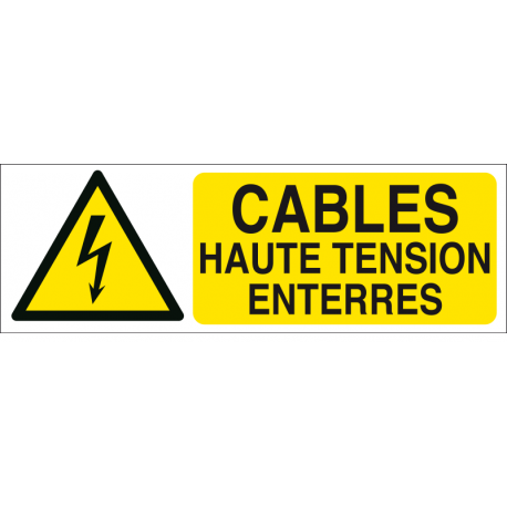 Cables haute tension enterrés