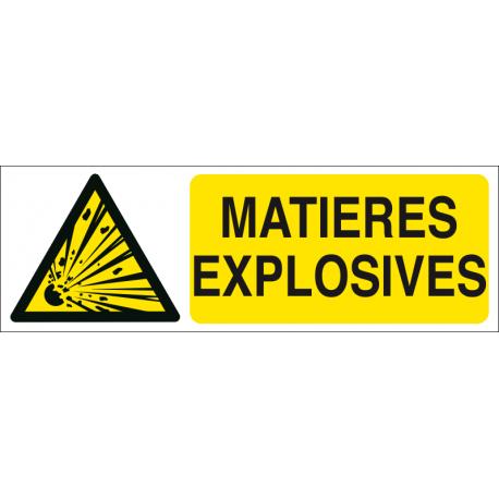 Matières explosives
