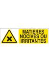 Matières nocives ou irritantes
