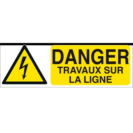 Danger travaux sur la ligne