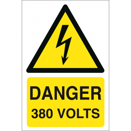 Danger 380 volts
