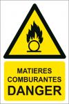 Matières comburantes danger
