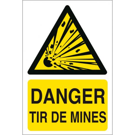 Danger tir de mines