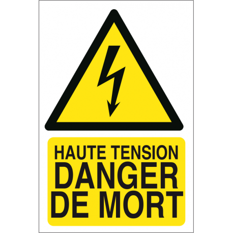 Haute tension danger de mort