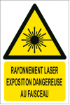 Rayonnement laser exposition dangereuse au faisceau