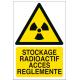 Stockage radioactif accès règlementé