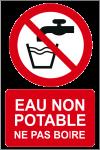 Eau non potable ne pas boire