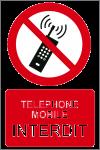 Téléphone mobile interdit