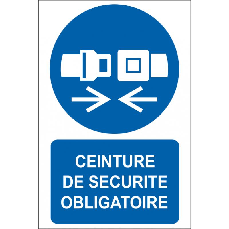Ceinture de s curit obligatoire id project signal tique - Port de la ceinture obligatoire ...
