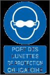 Port des lunettes de protection obligatoire