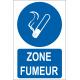 Zone fumeur