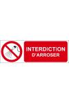 Interdiction d'arroser