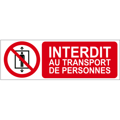 Interdit au transport de personnes