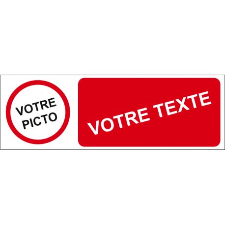 Personnaliser pictogramme avec texte