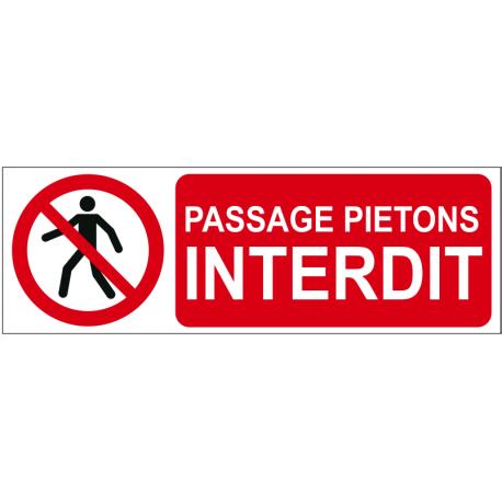 Passage piétons interdit