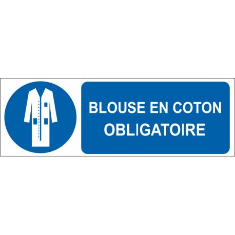 Blouse en coton obligatoire