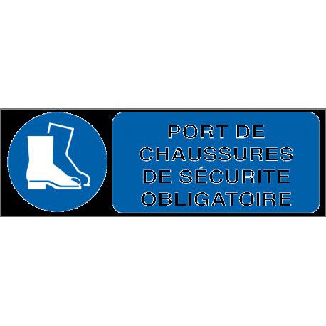 Port de chaussures de sécurité obligatoire