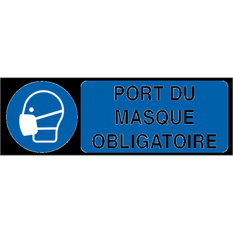 Port du masque obligatoire id project signal tique - Pictogramme port du masque obligatoire ...