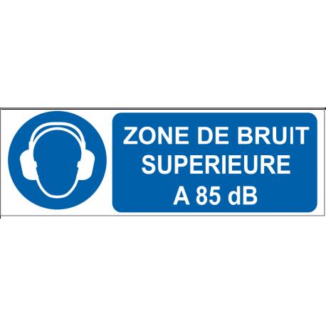 Zone de bruit supérieur à 85 dB