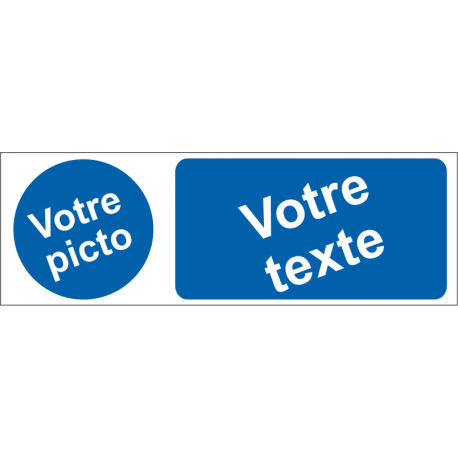 Personnaliser pictogramme Obligation avec texte
