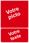 Personnaliser pictogramme Incendie avec texte (portrait)