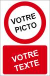 Personnaliser pictogramme Interdiction avec texte (portrait)