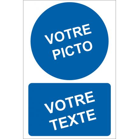 Personnaliser pictogramme Obligation avec texte (portrait)