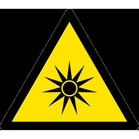 Danger Rayonnement optique
