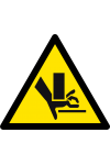 Attention aux mains Risque d'écrasement
