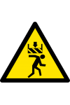 Attention risque d'écrasement (haut)