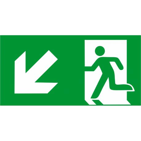 Sortie de secours bas gauche