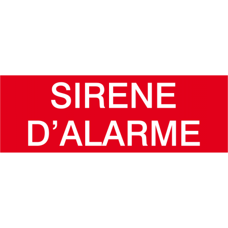 Sirène d'alarme