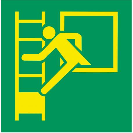 Fenêtre de secours avec échelle de secours