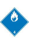 Gaz inflammable au contact de l'eau 4