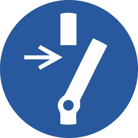 Débrancher avant d'effectuer une activité de maintenance ou une réparation