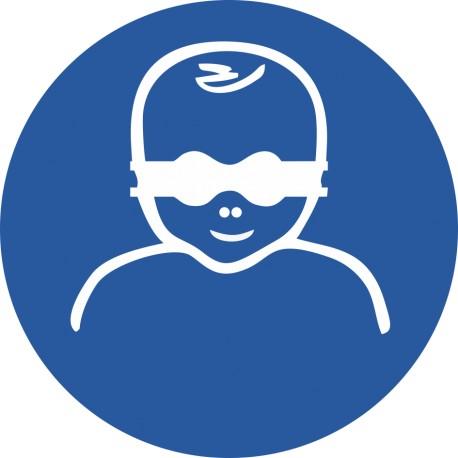 Les enfants en bas âge doivent être protégés par un protecteur opaque de l'oeil