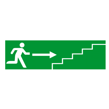 Sortie de secours flèche droite escalier 1