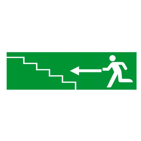 Sortie de secours flèche gauche escalier 1