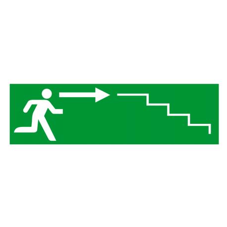 Sortie de secours flèche droite escalier 2