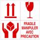"""Etiquette multisymbole """"Fragile manipuler avec précaution"""""""