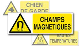 Pictogrammes Danger + Texte