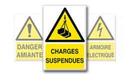 Pictogrammes Danger + Texte (portrait)